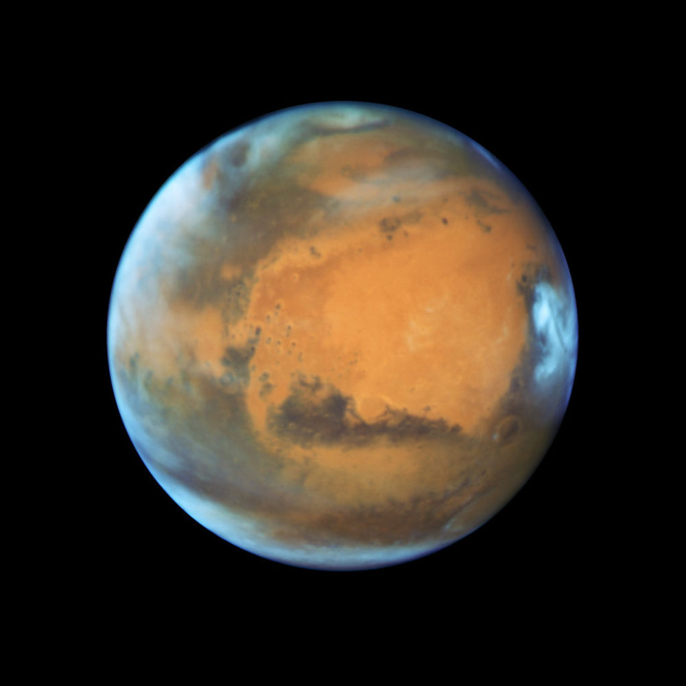 Closeup View of Mars Captured by Hubble Space Telescope