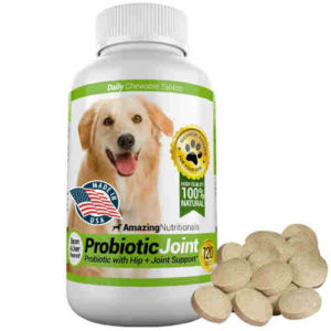 Amazing Nutritionals Probiotic Joint for Dogs, Bacon flavoured, 120 Tablets