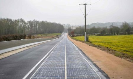 Solar Panel in Normandy village of france