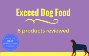 Exceed dog food