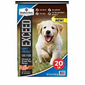 Exceed dog food for puppies