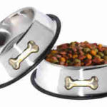 Gpet Dog Bowl 32 Ounce Stainless Steel With Rubber Base