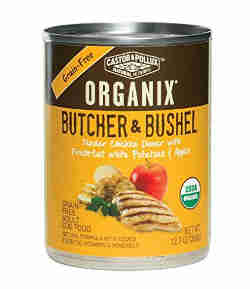 Organix Butcher and Bushel with white potatoes and apples