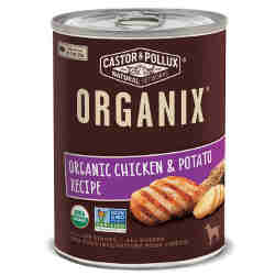 Organix canned dog food with chicken and potatoes