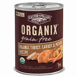 Organix grain free dog food Turkey potatoesand carrots