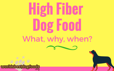 Fiber-rich dog food