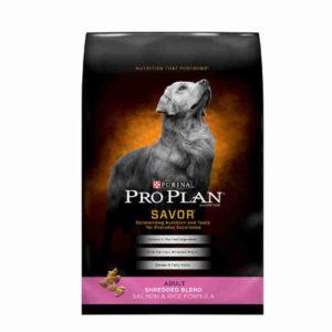 Purina Pro Plan Savor Shredded Blend Salmon and Rice Formula Dry Dog Food