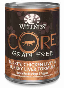 Wellness core grain free canned chicken turkey and liver