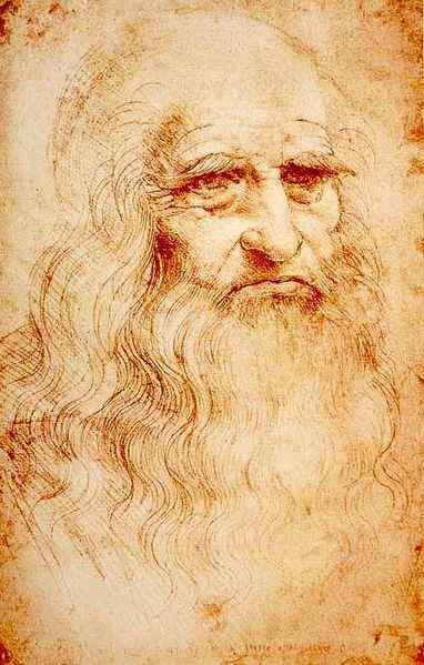 "Leonardo da Vinci – ""Portrait of a man in red chalk"