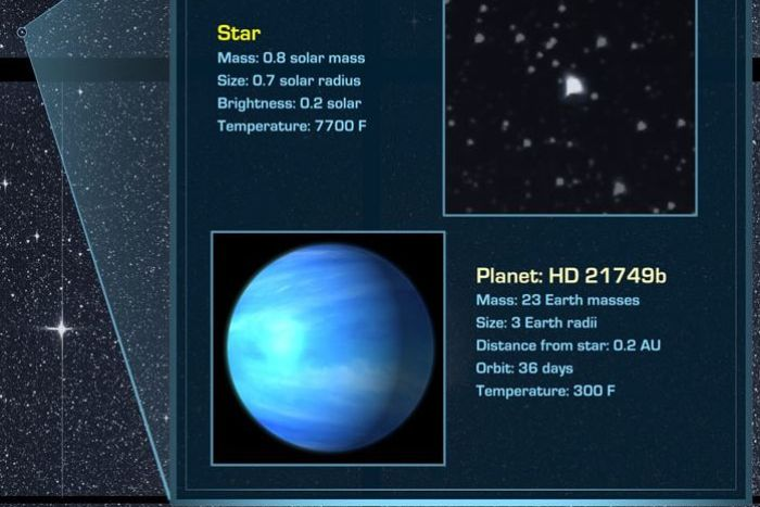 Scientists say HD 21749 could be a 'water planet'.