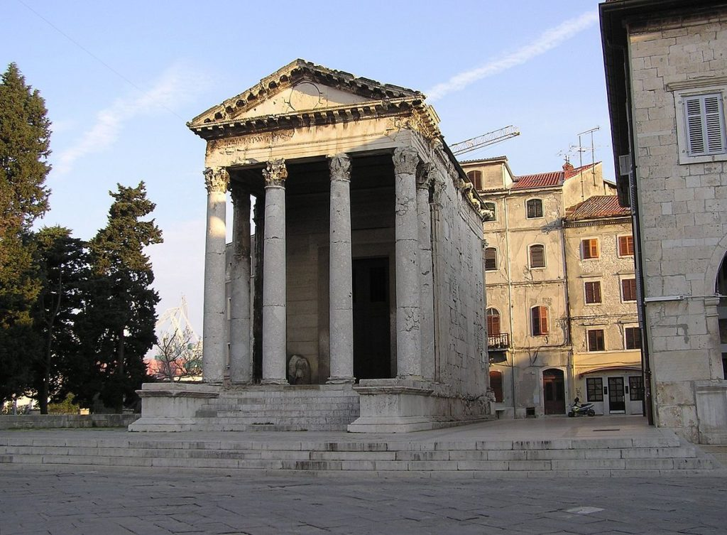 TEMPLE OF AUGUSTUS IN PULA, Croatia